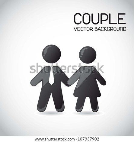 couple icons over gray background. vector illustration - stock vector