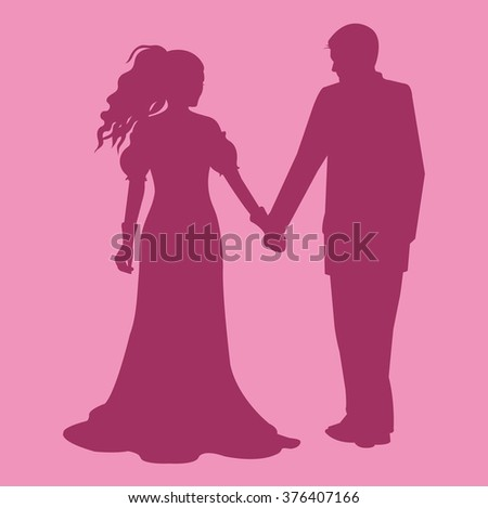 Couple in love vector illustration - stock vector