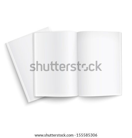 Couple of blank magazines template. on white background with soft shadows. Ready for your design. Vector illustration. EPS10. - stock vector