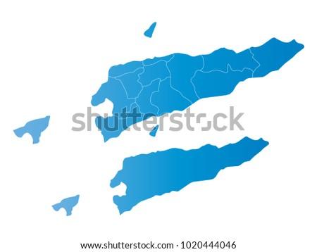 Timor Leste Map Stock Vectors Images Vector Art Shutterstock - East timor seetimor leste map vector
