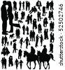 Couple silhouettes-vector - stock vector