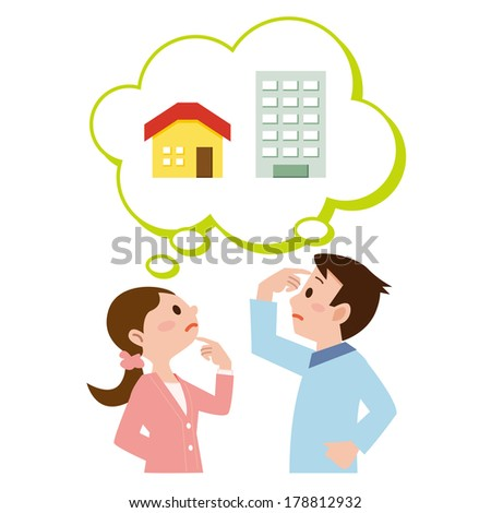 Couple who get lost in the purchase of my home - stock vector