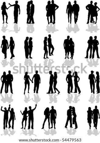 Couples - stock vector