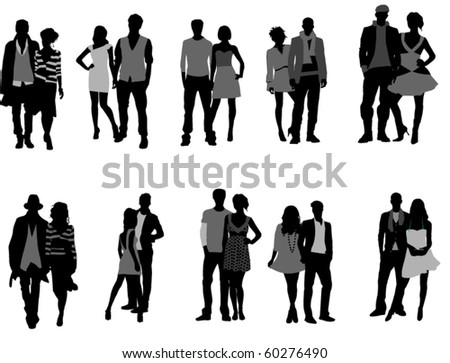 Couples - stock vector
