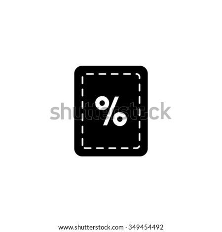 Coupon  discount icon  - stock vector