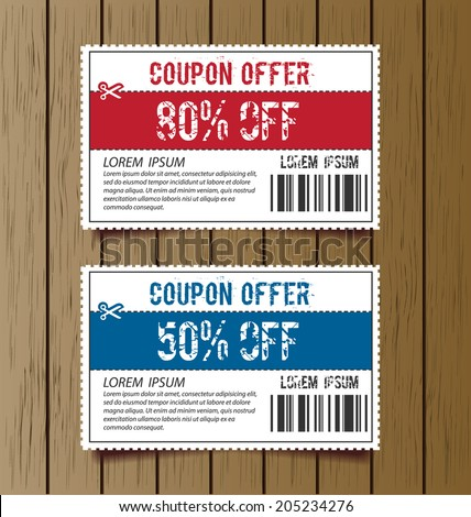 Coupon Template Images RoyaltyFree Images Vectors – Coupon Sheet Template