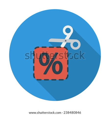 Coupon. Single flat color icon. Vector illustration. - stock vector