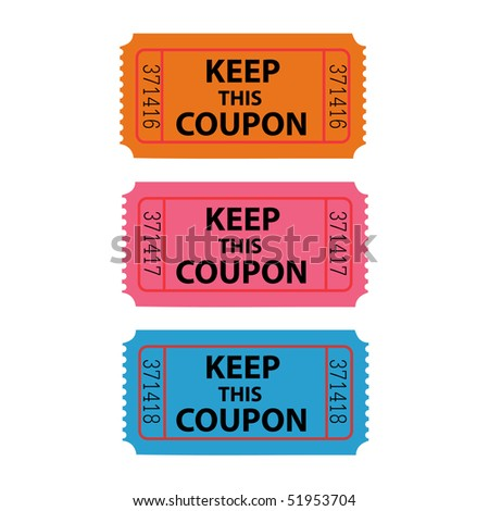 Coupon Vector Illustration - stock vector