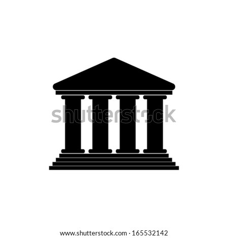 Court Building Icon - stock vector