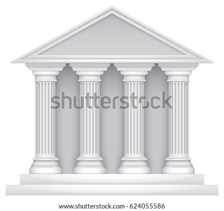 Court building icon (vector)