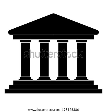 Court Building Icon - vector illustration - stock vector