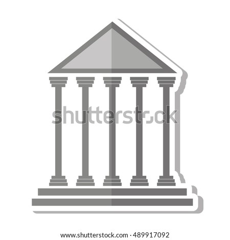court building isolated icon vector illustration design