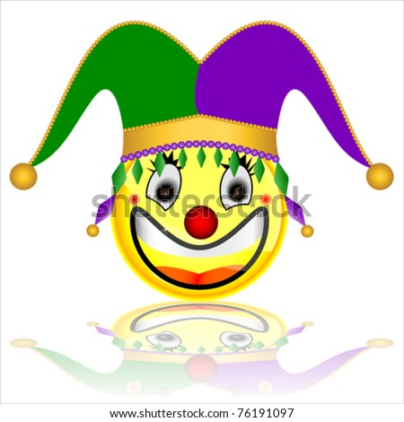 court jester smile character - stock vector