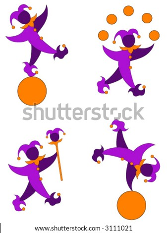 Court Jester vector illustration.
