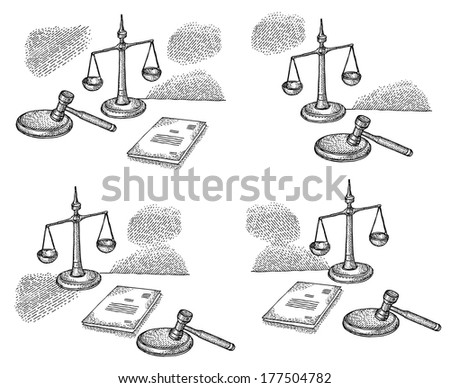 Court theme - stock vector