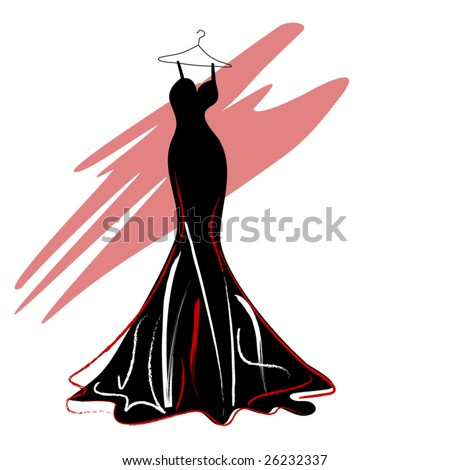 couture dress - stock vector