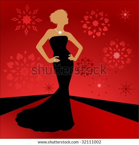 Couture fashion on the catwalk - stock vector