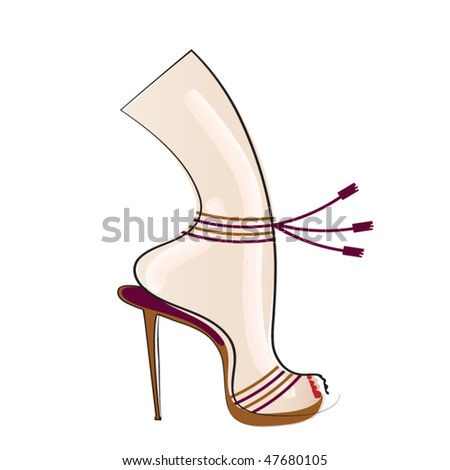 Couture shoe 2 - stock vector
