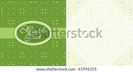 cover and page design in green - stock vector