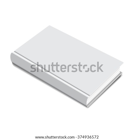 Cover Book blank isolated on white background. vector illustrations