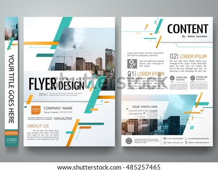 cover book portfolio presentation brochure design template vector city concept in a4 sizegreen