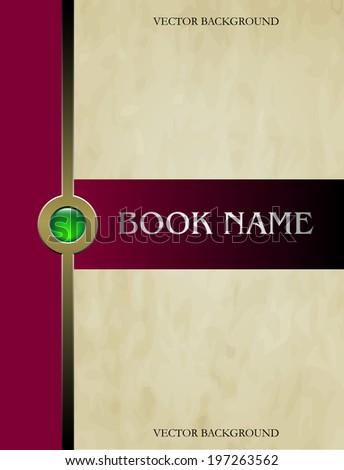 Cover book vector - stock vector