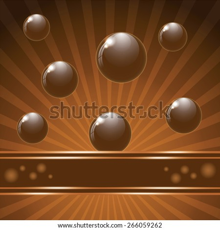 Cover chocolate sweets box background. Vector illustration. - stock vector