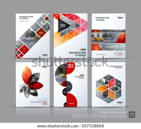 Cover Design Annual Report Brochure Template Stock Vector