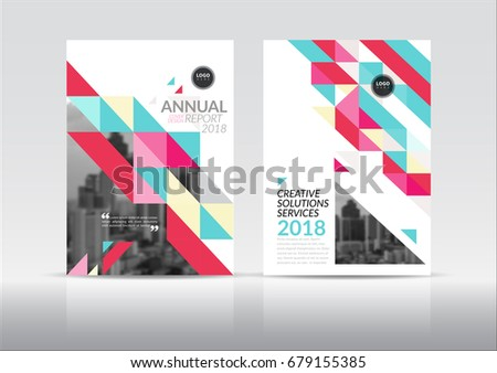 multi page brochure template free - cover design annual report cover flyer stock vector