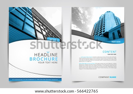 Cover Design Annual Reportvector Template Brochures Stock Photo