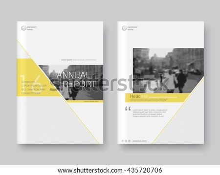 Cover design annual report,vector template brochures, flyers, presentations, leaflet, magazine a4 size. White with yellow abstract background - stock vector