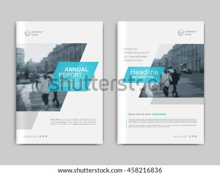 Cover design annual report,vector template brochures, flyers, presentations, leaflet, magazine a4 size. White with blue abstract background - stock vector