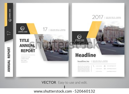 Cover design annual report,vector template brochures, flyers, presentations, leaflet, magazine a4 size. White with yellow abstract background