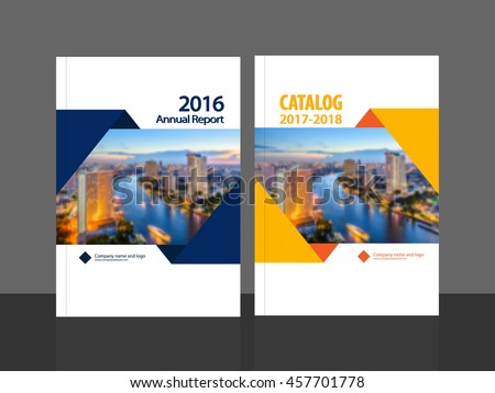 Cover design annual report business catalog stock vector for Sample product catalogue template