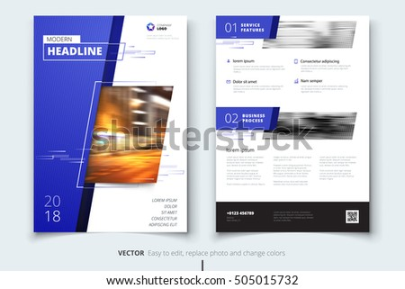 Cover design for Annual Report, Catalog or Magazine, Book or Brochure, Booklet or flyer. Corporate business template in A4 size. Flat creative concept in bright colors. Vector Illustration