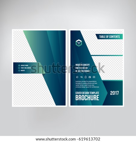cover design catalogue brochure booklet graphic stock vector