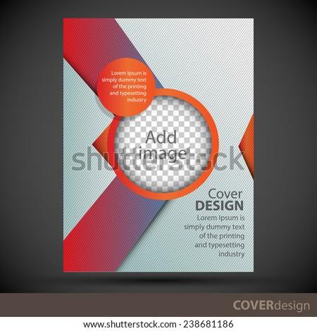 Cover design template - stock vector
