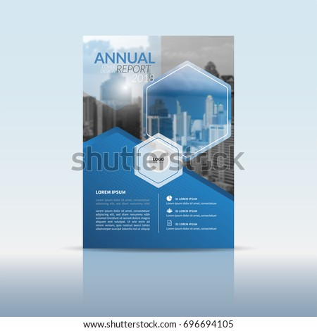brochure front cover design - cover design template annual report cover stock vector