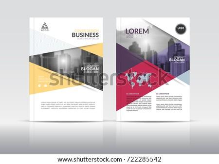 Cover Design Template Annual Report Cover Stock Photo (Photo, Vector ...