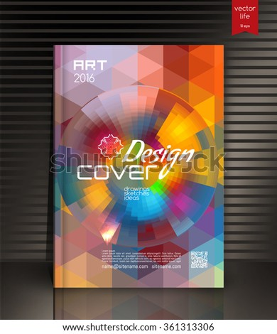 Cover design. The modern concept of cover design in the polygonal style. Vector image covers for books, notebooks, annual report. The optimum combination of graphics, text & free space.