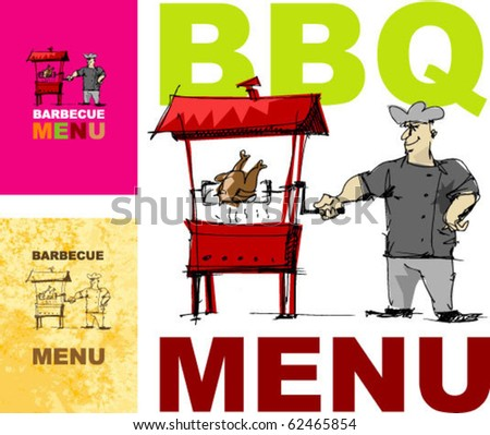 cover for menu - right size A4 - A3... handmade sketch based - stock vector