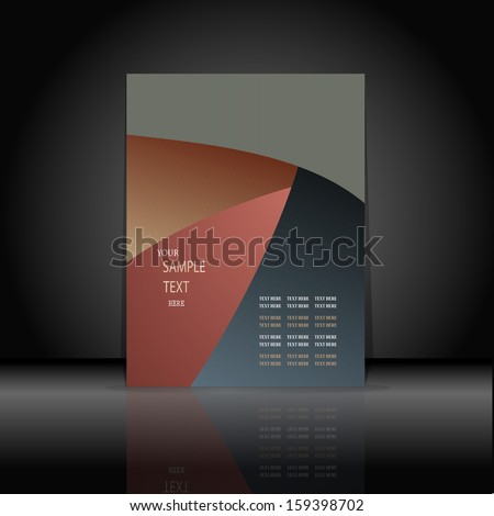 Cover for the book abstraction of a wave the text - stock vector