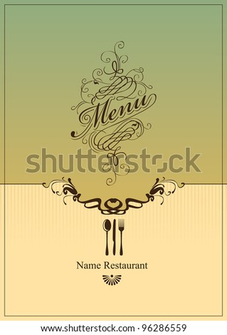 Cover for the menu in retro style - stock vector