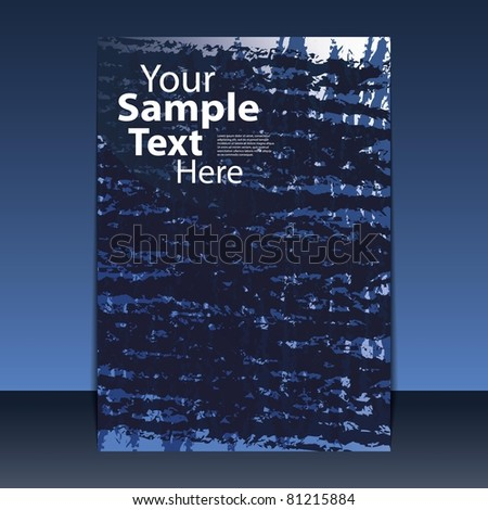 Cover or Flyer Design - stock vector