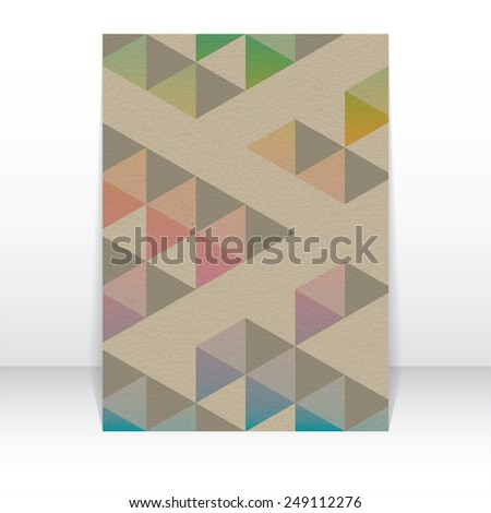 Cover report triangle geometry abstract background, vector illustration  - stock vector