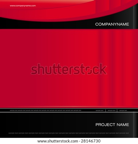 Cover- template-background - RED TURBO - stock vector