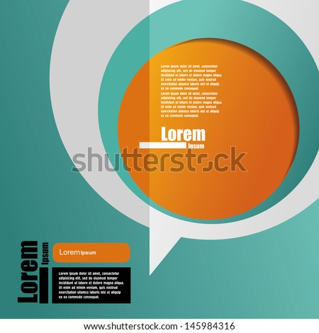 cover template. brochure design - stock vector