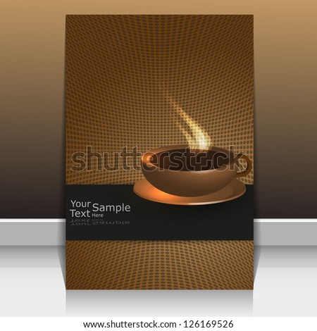 Cover! used as a menu bar or coffee. - stock vector