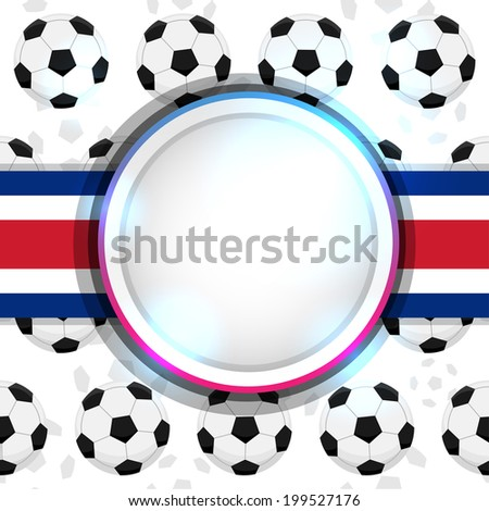 Cover with a soccer ball and the Costa Rican flag, vector