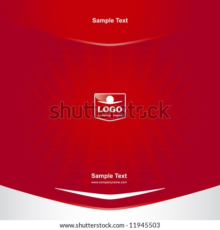 Cover with logo (other elements of  this Corporate style are in my portfolio  Image ID: 11883430) - stock vector
